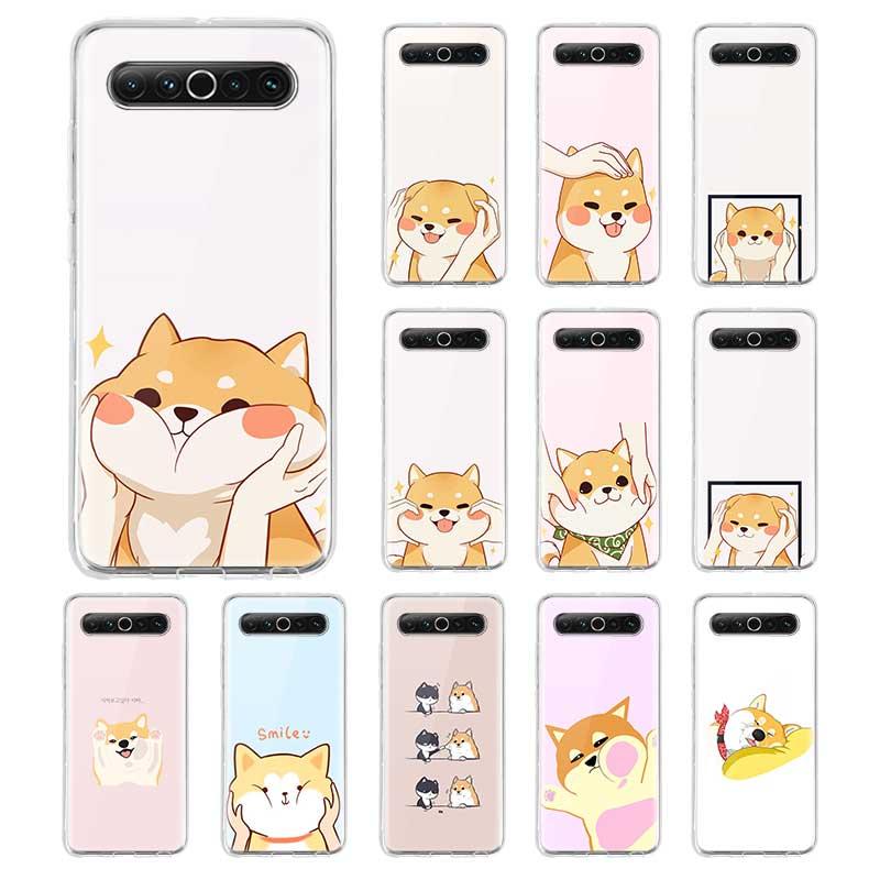 Cute corgi cão silicone capa couqe para meizu 16 16th 16s pro 16t 16xs m6 17 pro macio tpu claro telefone caso fundas