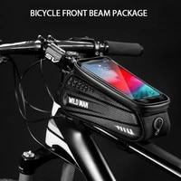 riding equipment bicycle bag outdoor waterproof front beam bag mountain bike mobile phone touch screen upper tube bag saddle bag