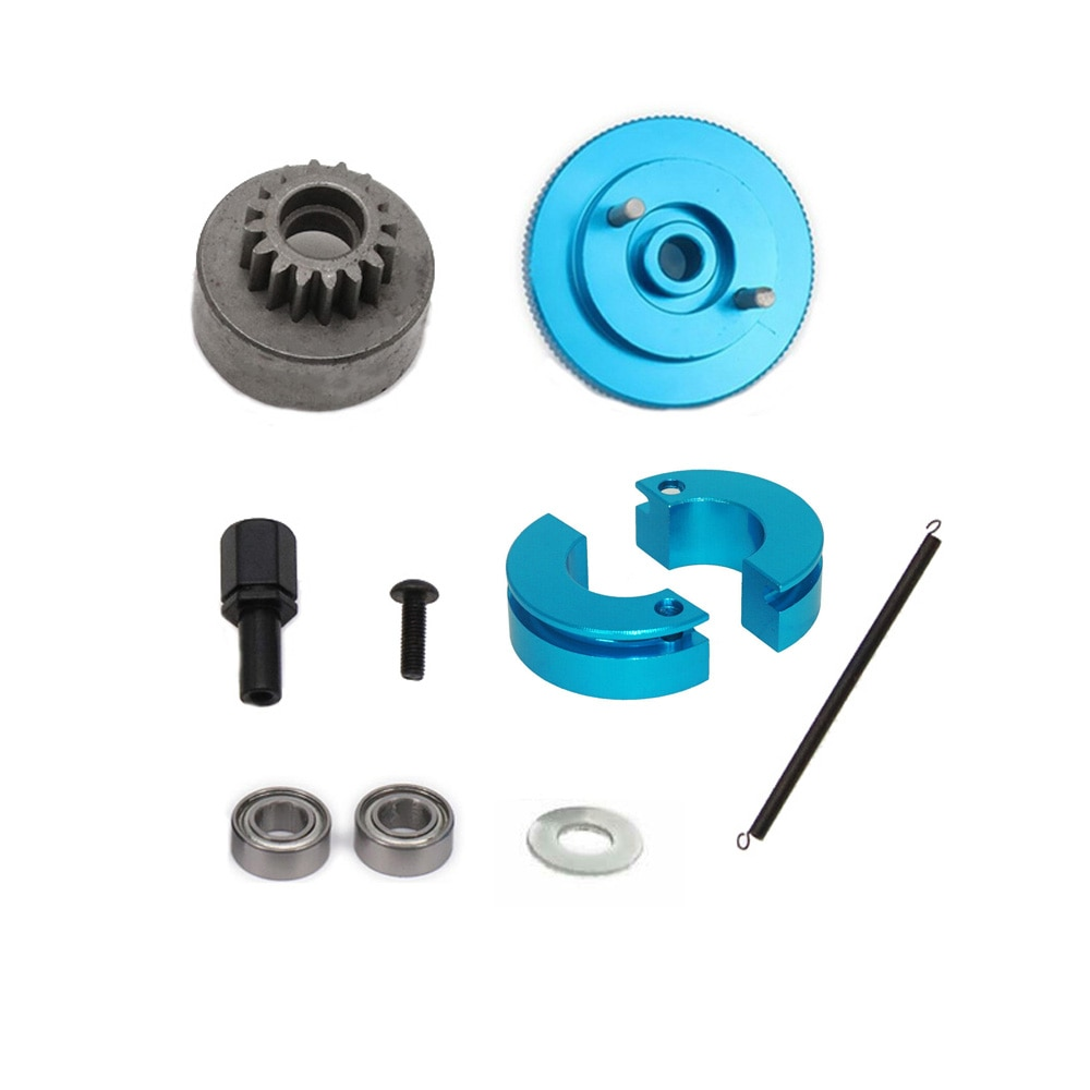 16T Gear 102006 Flywheel Clutch Bell & Ball Bearings Set for HSP 94188 1/10 RC 1:10 Nitro Engine Car Upgrade Parts enlarge