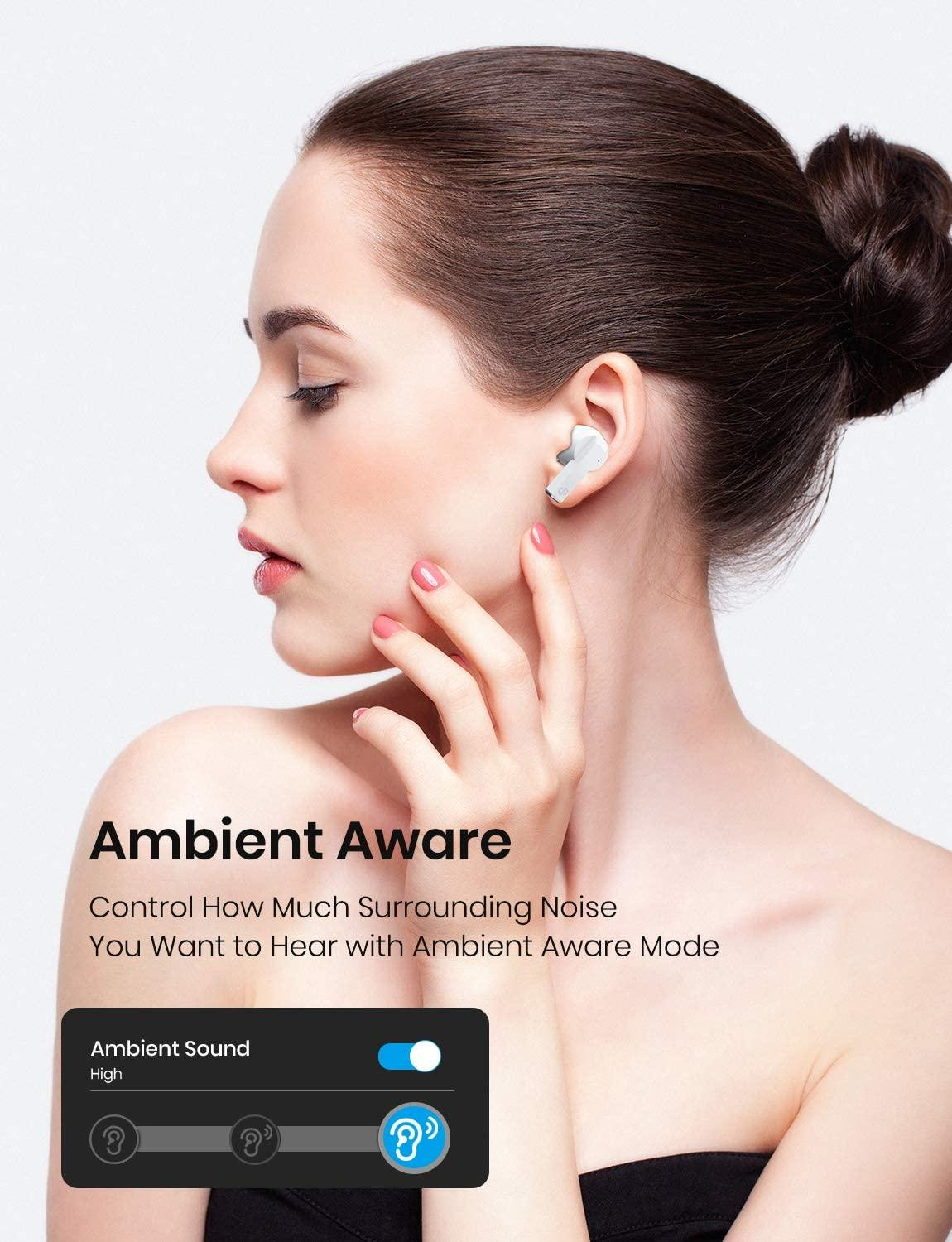 Wireless Earbuds Active Noise Cancelling Bluetooth 5.0 Headphones ANC TWS with Transparency Gaming Mode and Qi Charging Earphone enlarge