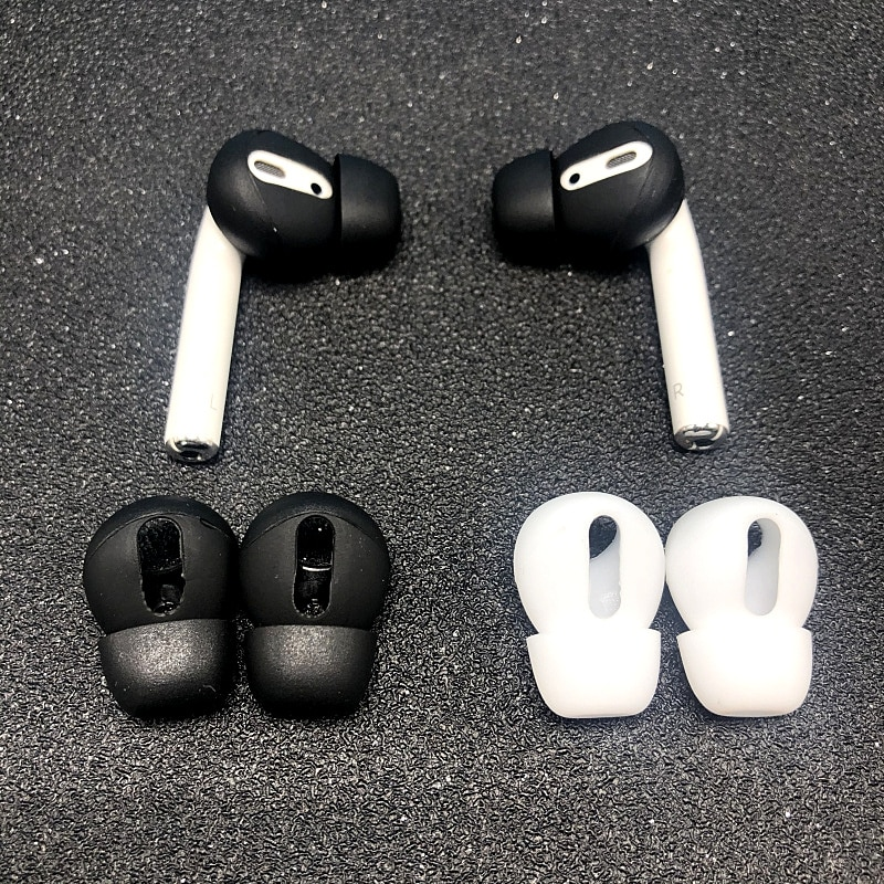 Ear pads for Airpods 1/2 Wireless Bluetooth Iphone Earphones Silicone Covers Caps Earphone Case Earpads Eartips 2pcs/Pair