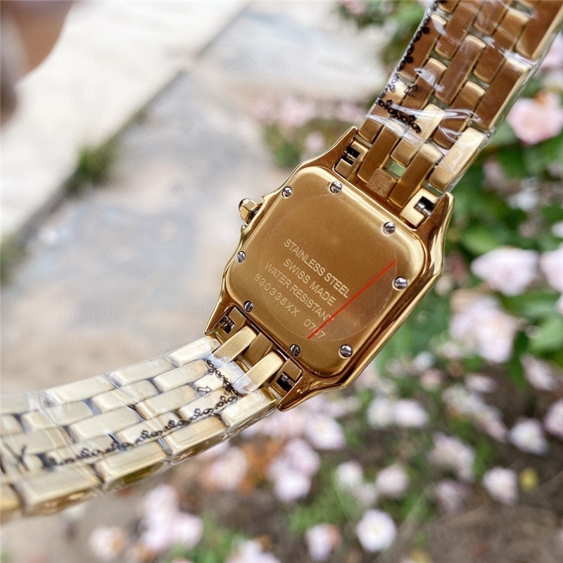 brand C watches thin watch 316L stainless case import movement high quality cheetah quartz gold watch for office female gift enlarge