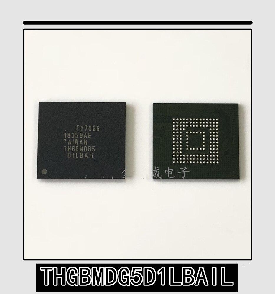 1 pces-10 pces novo original autêntico thgbmdg5d1lbail BGA-153 thgbmdg5d1 bga153 chip de telefone móvel 153 bola 4g emmc fonte libra