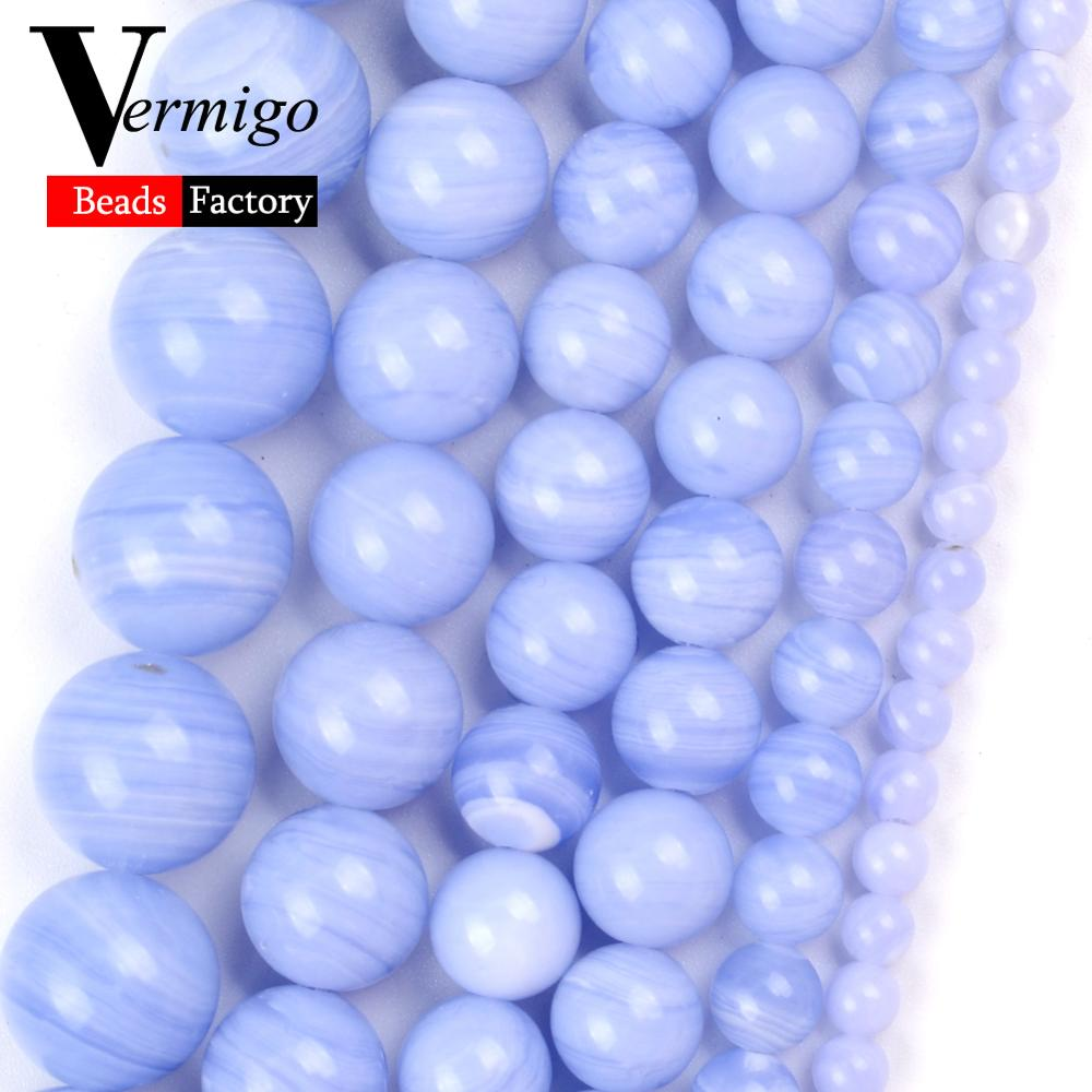 Natural Purple Stripe Agates Stone Beads for Jewelry Making 4mm-12mm Spacer Loose Beads Diy Bracelet