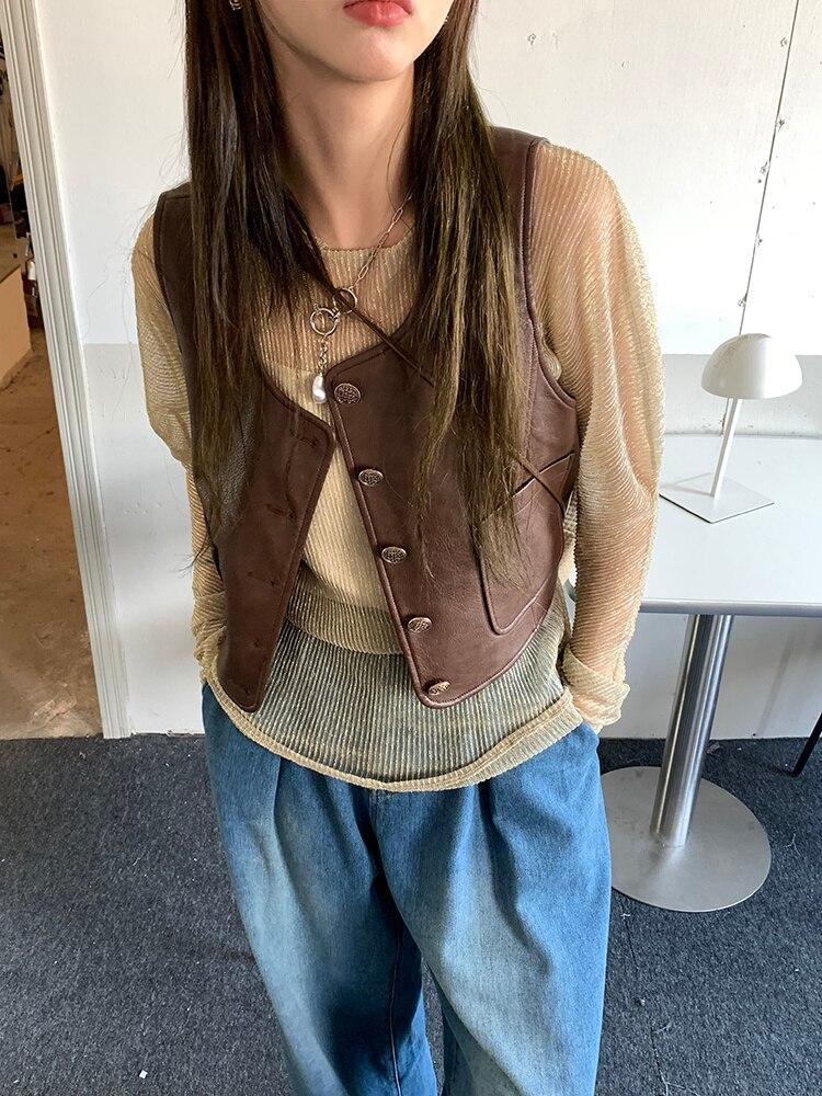 Vest Women's Spring And Autumn Vest 2021 New Loose Coat Design Sense Of Coat