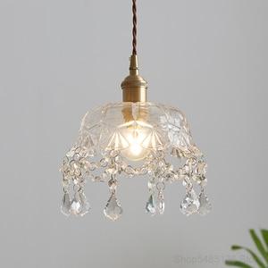 Modern Flower Glass Pendant Lights Nordic Living Room Dining Room Barbershop Pendant Lamp Home Art Deco Crystal Light Fixtures