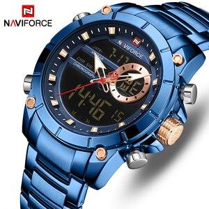 Men Watches NAVIFORCE Top Brand Luxury Fashion Military Quartz Mens Watch Waterproof Sports Men's Wrist Watch Relogio Masculino
