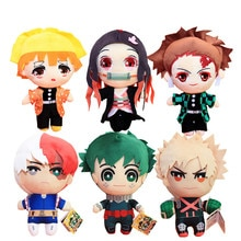 23CM Anime My Hero Academia Izuku Midoriya Katsuki Bakugou Shouto Todoroki Plush pendant toy Soft Stuffed dolls Gift