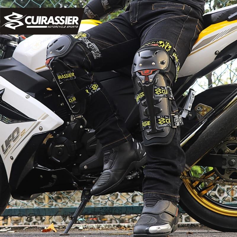 Motorcycle Protective knee pads CUIRASSIER Kneepad Brace Elbow Protection Protector Motorbike Motocross Racing MX Guards Armor enlarge