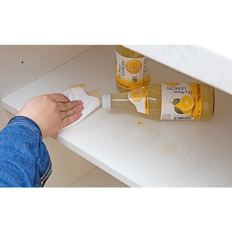 Waterproof Oilproof Shelf Cover Mat Drawer Liner Anti-Slipping Drawer Mat for Kitchen Home Shelf Cabinet Table Cupboard Cover enlarge