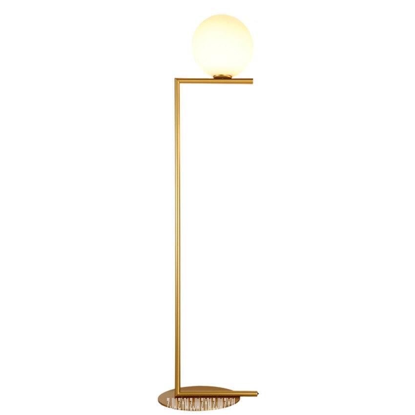 Lámpara de pie de bola, lámpara de cristal estándar, lámpara de pie, Bola de vidrio minimalista postmoderna para sala de estar, lámpara de pie, dormitorio creativo