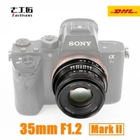 7artisans 35mm F1 2 II Camera Lens Large Aperture Portrait Lens for Nikon Z M4 3 Fuji X Sony E Canon EF M EOS-M mount Cameras