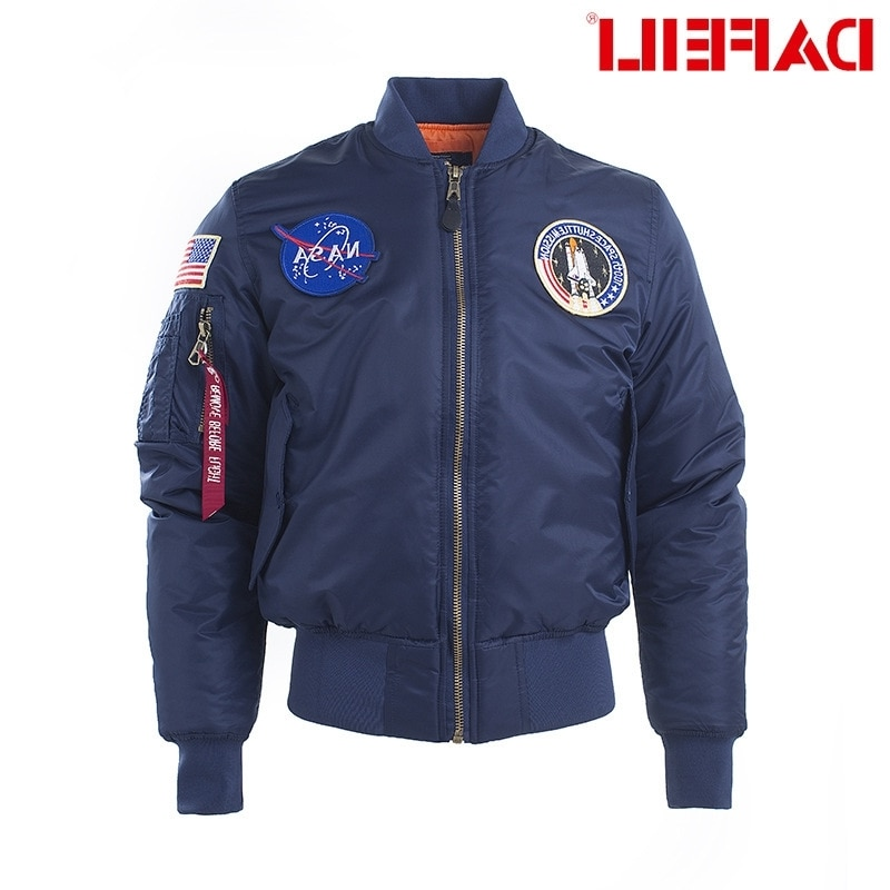 Harajuku tide brand ins jaet pilot jaet air force young men's winter thiened stand collar baseball suit