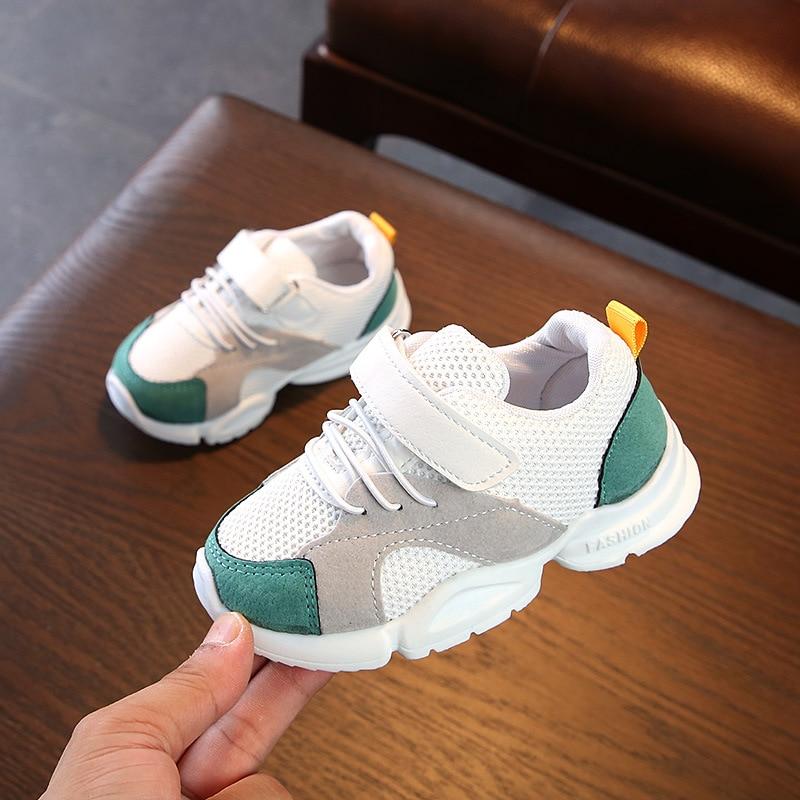 2020 Toddler Sneaker Kids Tennis Shoes Boy's Girl's Cute Casual Slip On Adjustable Sport  Walking Running Shoes
