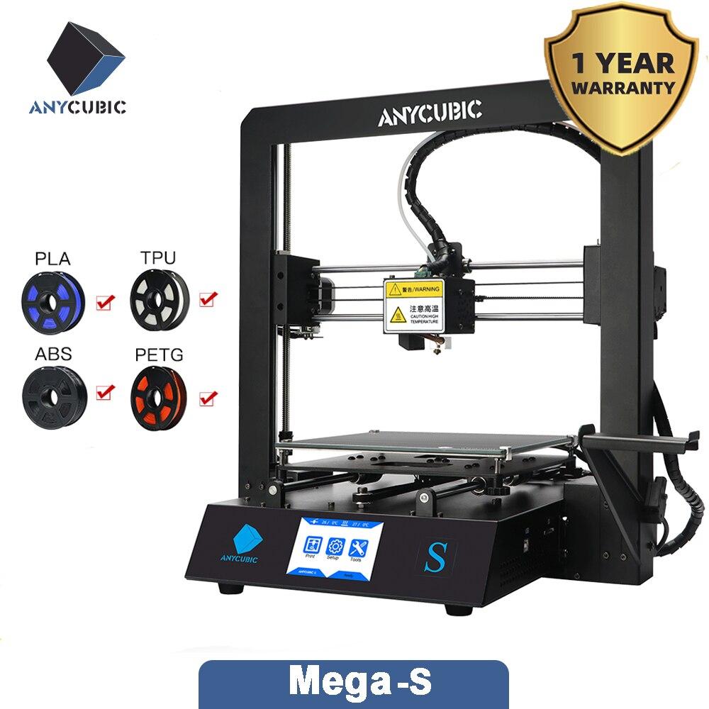 Impresora 3d ANYCUBIC i3 Mega-S, i3 Mega, de talla grande pantalla táctil TFT, escritorio FDM, Kit de impresora 3d, impresora 3d stampante 3d