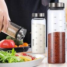 Yomdid Hoge Borosilicaatglas Kruiden Kan Peper Spice Shaker Keuken Zout Sesam Effen Kruiderij Afdichting Fles Met Roterende Deksel