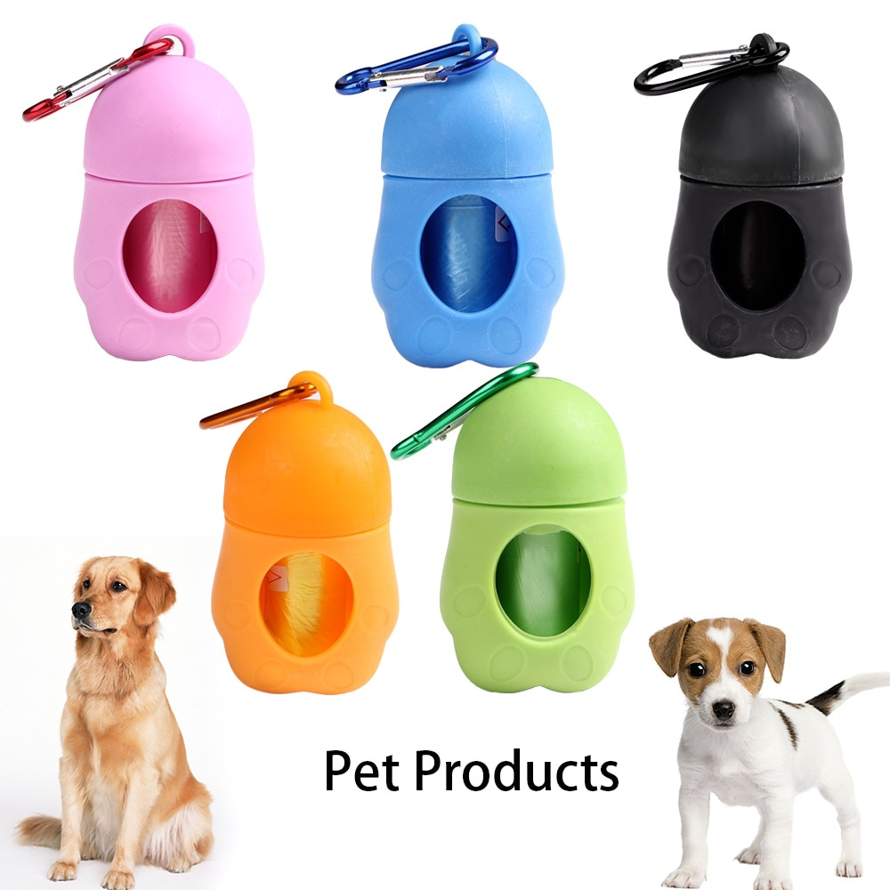 Cute Pet Dog Poop Bag Dispenser Waste Garbage Bags Carrier Holder Dispenser Poop Bags Set Pet Dog Waste Bag Pet Supplies