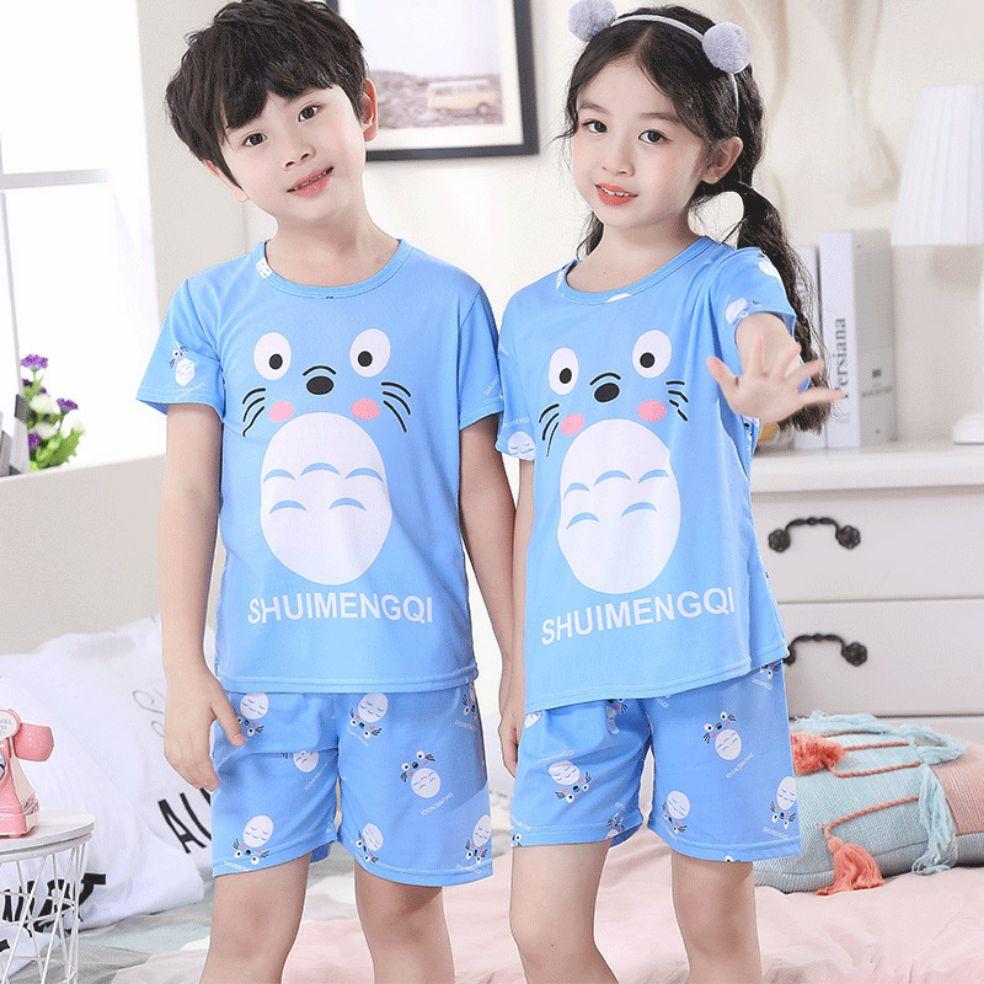 Baby Kids Pajamas Boys Cotton Clothes Pants Set Cartoon Sleepwear Kids Pajamas For Girls Toddler Bab