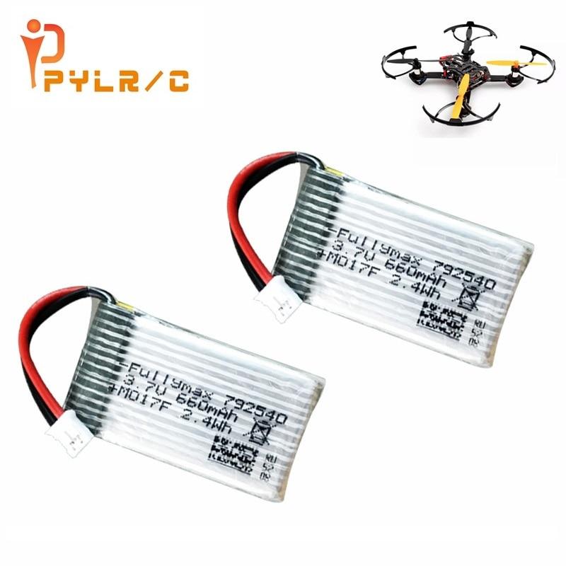 1/2/3/5Pcs Original For F121/F110S Quadcopter Parts 3.7v 660mAh Lipo Battery 3.7V 660mAh Battery PH2