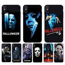 YNDFCNB Halloween la malédiction de Michael Myers film coque de téléphone pour iphone 11 Pro Max X XS MAX 6 6s 7 8 plus 5 5S 5SE XR SE2020