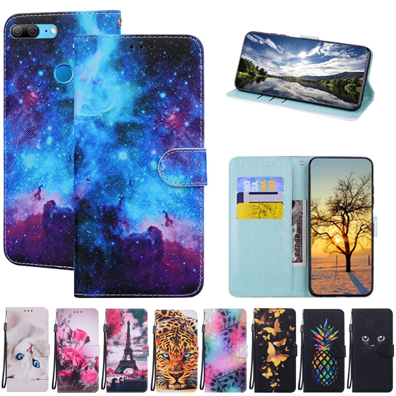 Honor 9 Lite Case on for Coque Huawei Honor 9 Lite Case for Huawei Honor 9Lite Luxury Book Wallet Ma