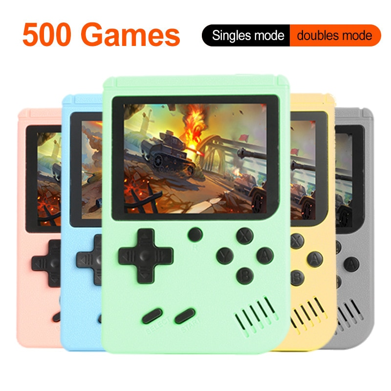 Portable Retro Video Game Console 3.0 Inch Handheld Game Player Built-in 500 Classic Games Mini Pocket Gamepad for Kids Gift