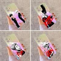hunter x hunter hisoka phone case for iphone huawei honor 7 8 9 11 12 20 30 s x xs xr mini pro max plus laser transparent