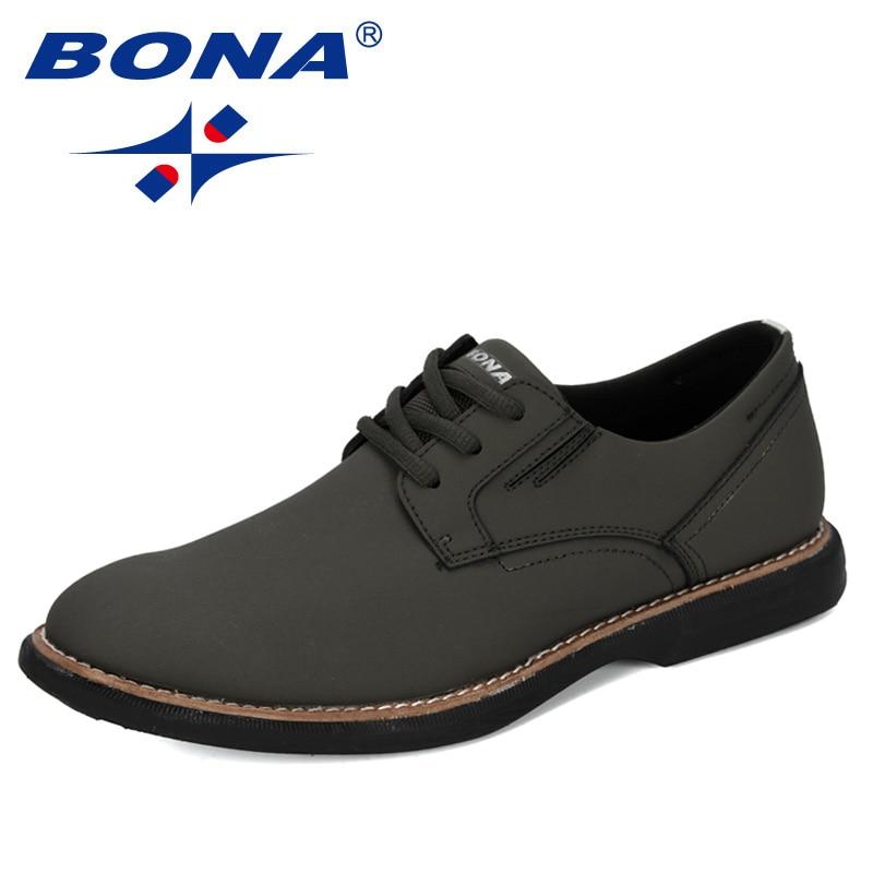 BONA-أحذية كاجوال للرجال ، أحذية خارجية مقاومة للاهتراء ، نعل مسطح ، 2020