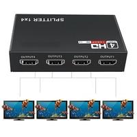 1x4 HDMI-совместимый разветвитель конвертер 1 в 4 Выход HD 1,4 разветвитель усилитель HDCP 1080P двойной дисплей для HDTV DVD PS3 Xbox