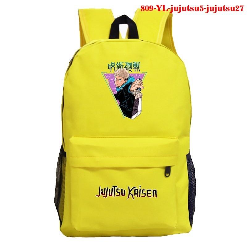 Girl School Backpack Jujutsu Kaisen Anime School Bags Harajuku Bookbag for Girls Backpacks Femme Mens Bookbag Anime Backpack
