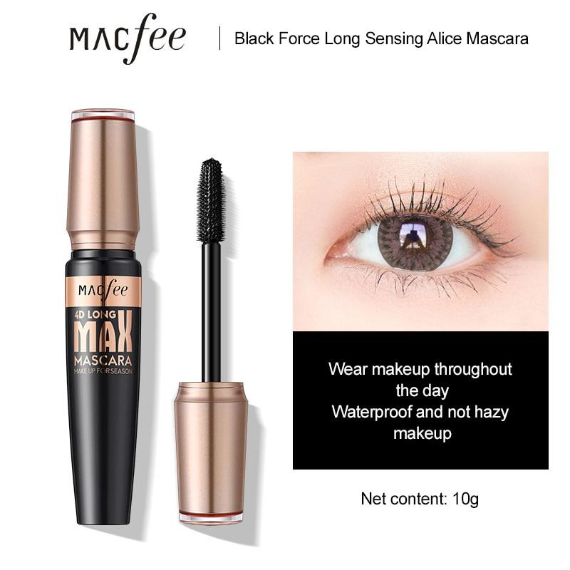Black Silk Fiber Lash Mascara Waterproof Quick Drying Eyelash Extension Thick Lengthening Eye Lashes Cosmetics недорого