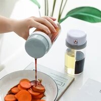 two in one transparent seasoning bottlespice jar moisture proo dual purpose oil pot soy sauce wine vinegar kitchen tool