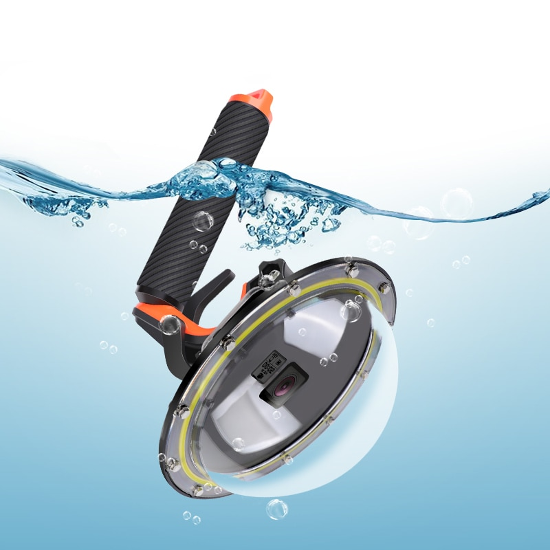 RuigPro-قبة كاميرا مع غطاء ، مقببة ، مقاومة للماء ، لـ GoPro Hero 5 ، Black Hero 6 ، Hero 7 ، الزناد ، الملحقات