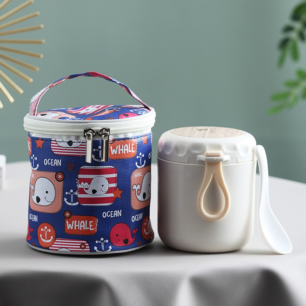Lunch Box Portable Thermo 304 Stainless Steel Containers Food Thermos Vaccum For Kids Milk Soup Cup Leakproof Lunchbox Handy  L1