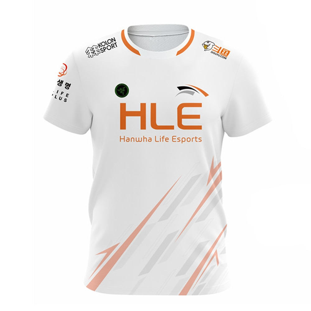 LOL LCK HLE Team Jersey Chovy Deft Morgan Yohan Vsta Customized Name Fans White T Shirt Uniform Men Women E-Sport Tops Clothes