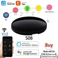 Smart Life     telecommande universelle WiFi IR  pour climatisation  boitier TV  compatible avec lapplication Tuya  Google Assistant  Alexa Sr