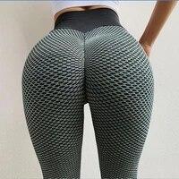 women seamless fitness leggings fashion print high waist elastic push up ankle length polyester leggings sport yoga pants