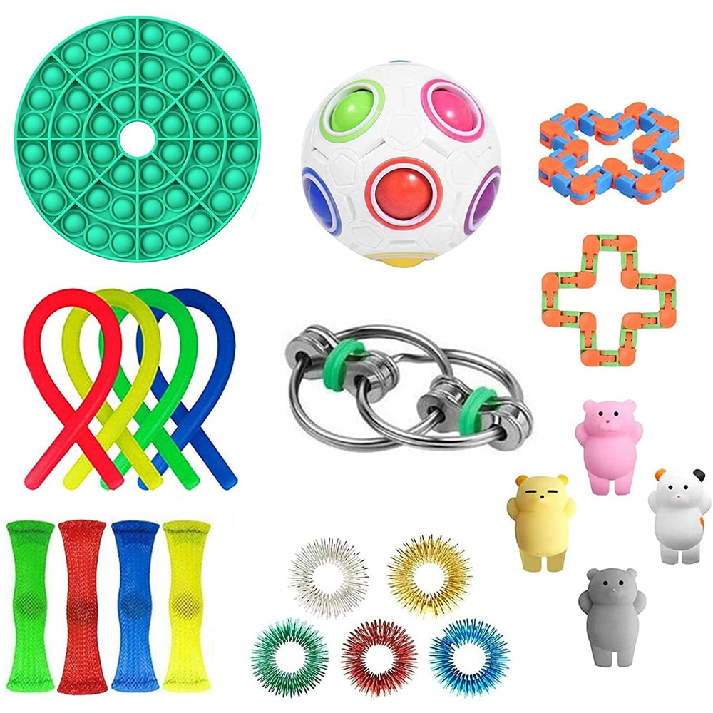 8 Type Decompression Toys Funny Combination Extrusive-Solving Fidget Various Style Stress Relief Toy Set Vent Toy For kids Adult enlarge