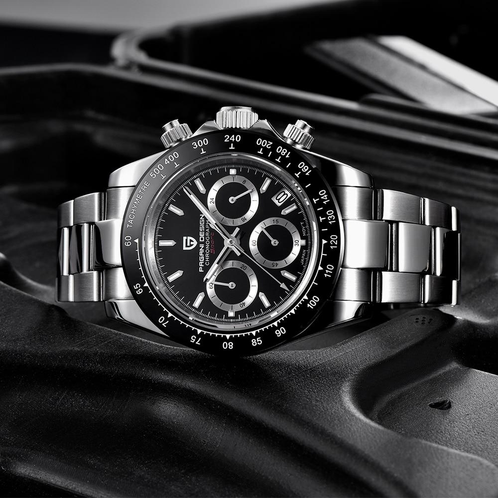 Часы PAGANI DESIGN, деловые, водонепроницаемые, спортивные, кварцевые, топовый бренд, Роскошные мужские часы