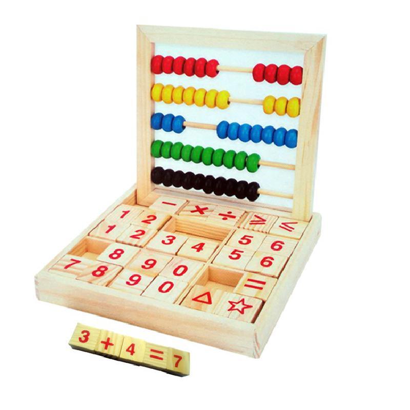 Montessori kinder vorschule arithmetik alphabet kognitiven bausteine multifunktionale holz aufklärung puzzle junge