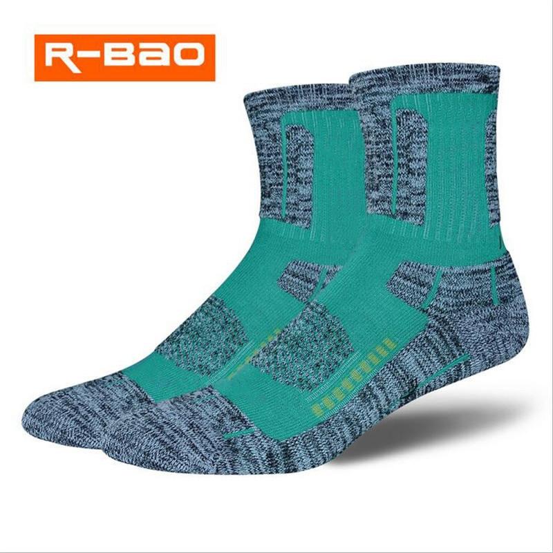 Deporte al aire libre montañismo esquí senderismo calcetines hombres mujeres invierno cálido algodón caminar ciclismo calcetines de felpa