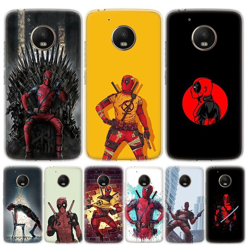 Marvel Deadpool Phone Case For Motorola MOTO G8 G7 G6 G5 G5S G4 E6 E5 E4 Plus Play Power One Action Soft Silicone TPU Cover
