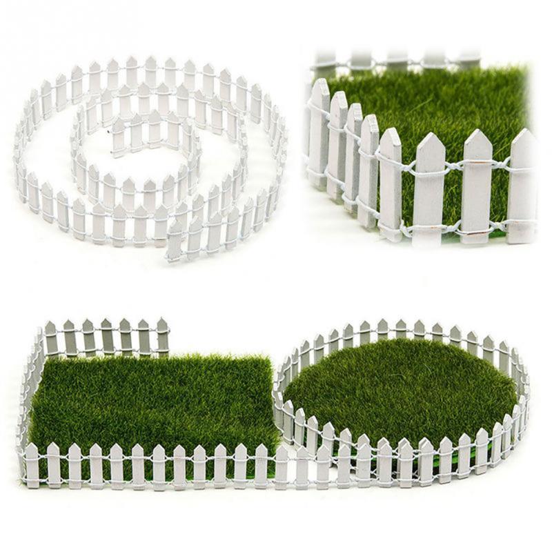 DIY Mini valla de 100*5cm DIY, barrera de madera artesanal, Terrario de jardín de hadas miniatura, muñeca decorado con valla y Rama de decoración