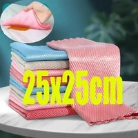 10pcs kitchen anti grease wiping rags efficient fish scale wipe cloth cleaning cloth home washing dish cleaning towel