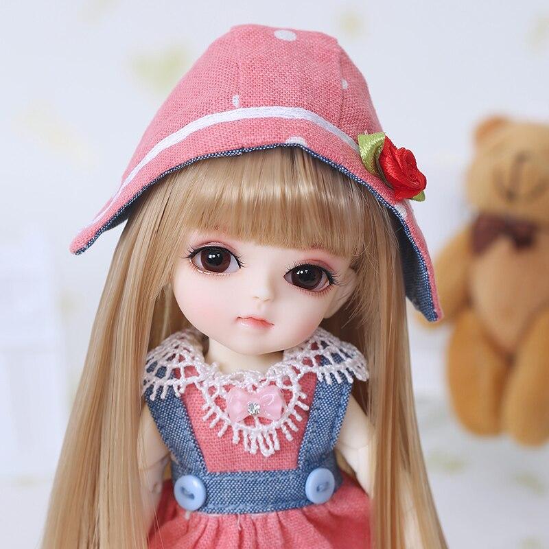 Kostenloser Versand BJD Puppen Lati Gelb Sunny Lea Lami Kuro Coco 1/8 Schöne Flexible perücke kleidung schuh auge Pukifee Oueneifs luodoll