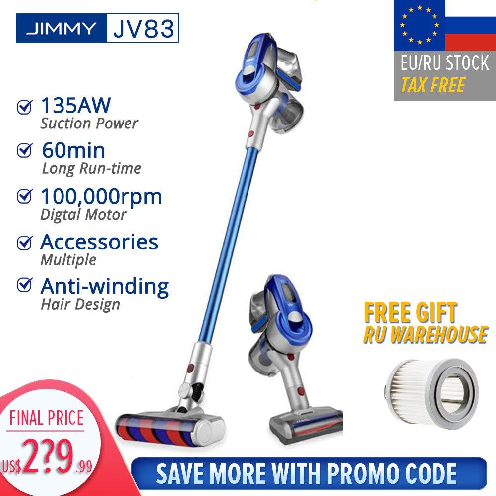 【EU STOCK】JIMMY JV83 aspiradora inalámbrica de mano sin cable Stick aspiradora 20kPa VS JIMMY JV53 envío rápido