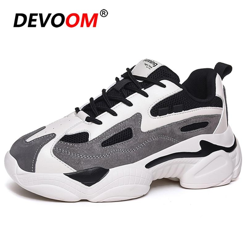 Printemps femmes grosses baskets femmes mode coréenne nouvelle femme noir blanc plate-forme 5cm semelle épaisse décontracté vulcaniser chaussures femme