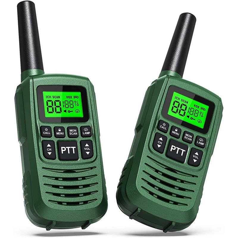 GOCOM G2 Walkie Talkies for Kids & Adults Long Range Two Way Radios 22 Channel LED Flashlight Tow Way Walkie Talkie 2Pack