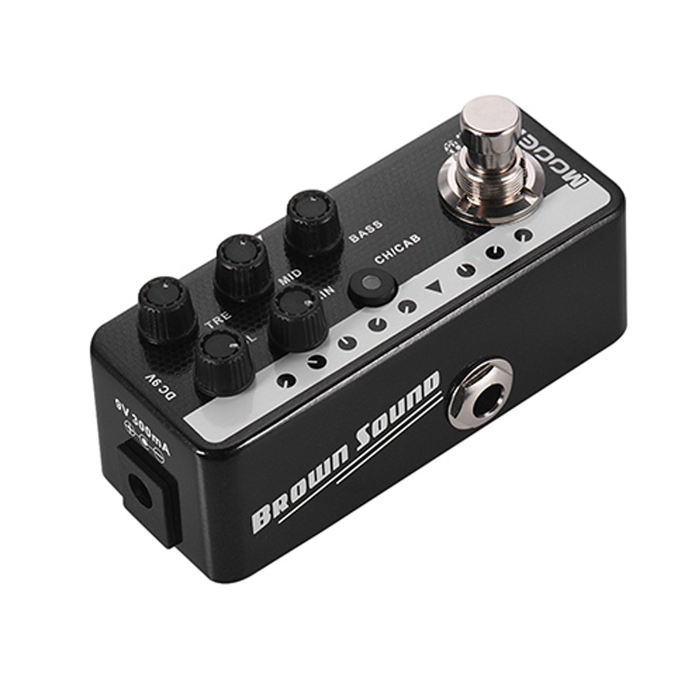Mooer 015 Brown Sound Pedal Guitar Parts Sound Digital Preamp Guitar Effect Pedal Very Early 90S Guitar Effect Music Instrument enlarge
