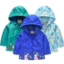 Baby Girls Summer Autumn Flower Jacket Toddler Kids Rabbit WaterProof Outerwear Windproof Overall Ch